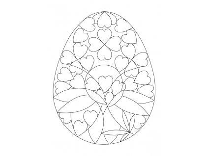 Šablona Velikonoční motiv se srdíčky