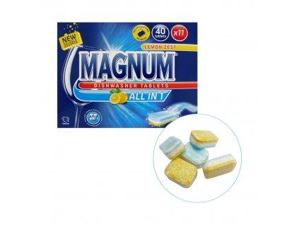 ALDI (Irsko) MAGNUM ALL IN 1 LEMON Tablety do myčky 40ks