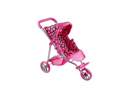 PLAYTO OLIVIE Sportovní kočárek pro panenky 1ks Kočárek pro panenky: tmavý růžový