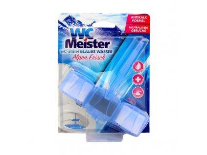 WC Meister (Německo) WC MEISTER Barvicí WC blok tuhý 45g Vůně WC Meister barvící: Alpen Frisch (modrý) - svěží alpská vůně