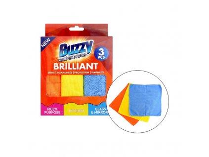 Buzzy (Anglie) BUZZY Utěrky z mikrovlákna 3ks