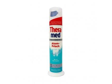 Schwarzkopf & Henkel THERAMED Zubní pasta s aplikátorem 100ml Theramed typ: Atem-Frisch (tyrkysová) - pro dlouhotrvající svěží mátový dech