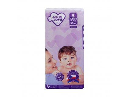 New Love (ČR) NEW LOVE PREMIUM COMFORT Dětské plenky 5 JUNIOR (11-25kg) 38ks