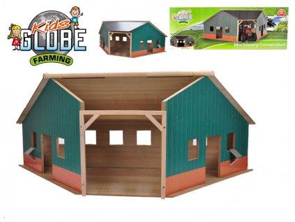 Garáž/farma dřevěná 40,5x100x38cm 1:16 v krabičce