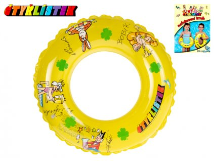 Kruh Čtyřlístek nafukovací transparentní 50cm 3-10let v sáčku
