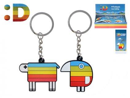 Přívěsek na klíče Duháček/ovečka na kartě v sáčku 24ks v DBX