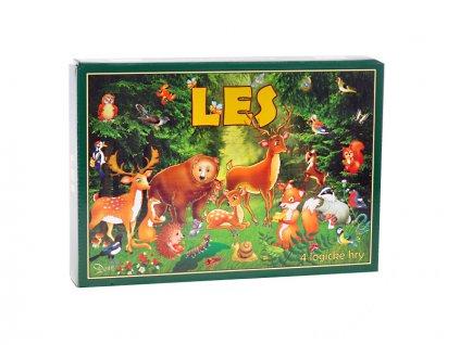 Společenská hra logická Les v krabičce