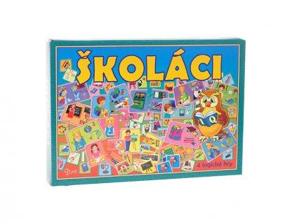 Společenská hra logická Školáci v krabičce