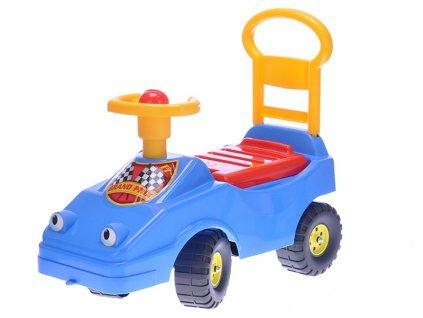 Odrážedlo auto 54cm s klaksonem 12m+ max.25kg modré v sáčku
