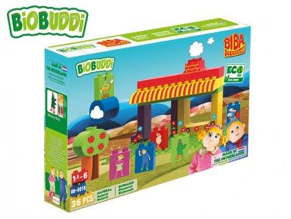 BiOBUDDi stavebnice BIBA Boerderij farma 36ks 18m+ v krabičce