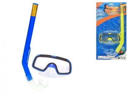 Potápěčská sada brýle 13,5cm se šnorchlem 34cm 2barvy na kartě