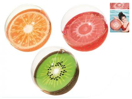 Míč nafukovací ovoce 46cm 3druhy 24m+ v sáčku