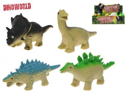 Dinosaurus strečový 13-17cm 4druhy 12ks v DBX