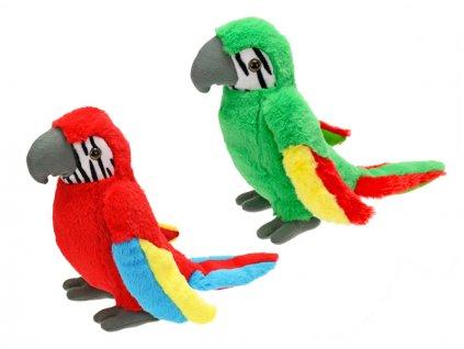 Papoušek plyšový 31cm 2barvy 0m+