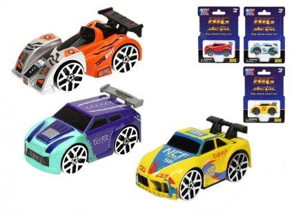 """Auto """"speed wheels"""" kov 7,5cm volný chod 6druhů na kartě"""