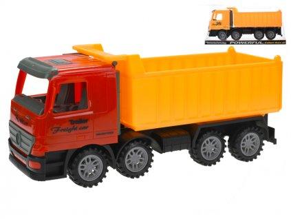 Auto nákladní sklápěčka 35cm na setrvačník 2barvy v krabičce
