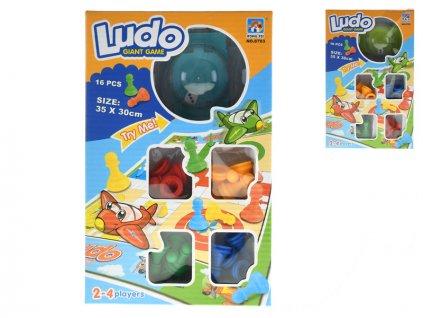 Společenská hra Ludo 35x30cm 2barvy v krabičce