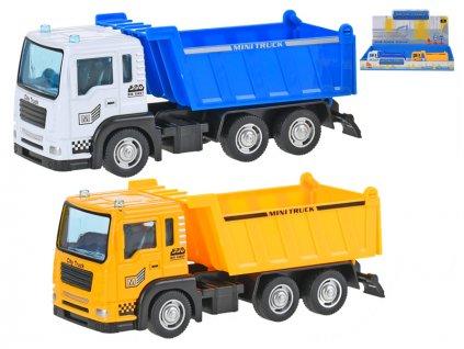 Auto nákladní 14cm kov volný chod 2barvy 8ks v DBX