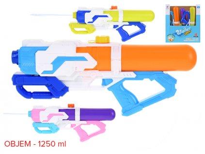 Vodní pistole 48cm s pumpou 3barvy 12ks v PDQ