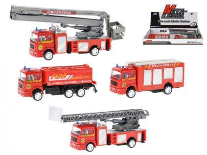 Auto hasiči 10,5-12cm kov na zpětný chod 4druhy 8ks v DBX