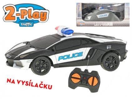 R/C auto USA policejní 15,5cm 2-Play na baterie 27MHz plná funkce v krabičce
