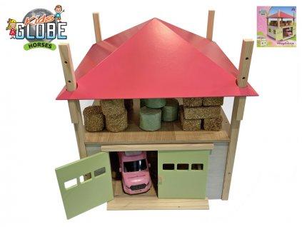 Seník/stodola 32x35x45cm 1:32 dřevěná v krabičce