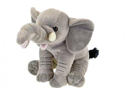 Slon plyšový 20cm sedící 0m+ v sáčku