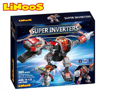 LiNooS stavebnice 385ks robot/dinosaurus s postavičkou v krabičce