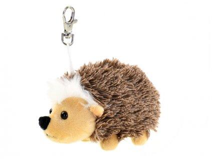 Přívěsek na klíče ježek plyšový 14cm 0m+ v sáčku