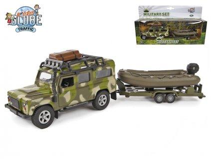 Land Rover 27cm kov zpětný chod s přívěsem a lodí v krabičce
