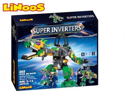 LiNooS stavebnice 365ks robot/dinosaurus s postavičkou v krabičce