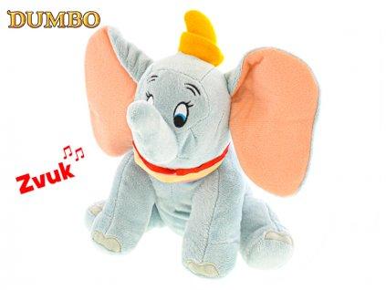 Dumbo plyšový 20cm sedící na baterie se zvukem 0m+