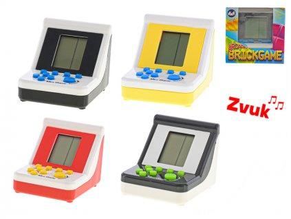 Brick game 9x7x6,5cm na baterie se zvukem 6barev v krabičce