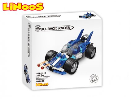 LiNooS stavebnice 207ks auto sportovní na zpětný chod v krabičce