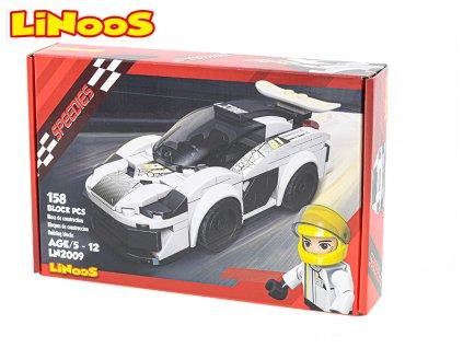 LiNooS stavebnice 158ks auto sportovní na volný chod v krabičce