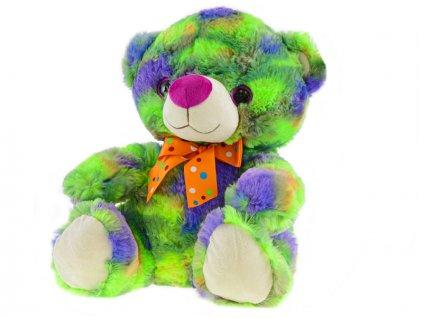 Medvěd plyšový 35cm sedící s mašlí 0m+