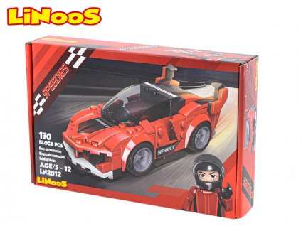 LiNooS stavebnice 170ks auto sportovní na volný chod v krabičce