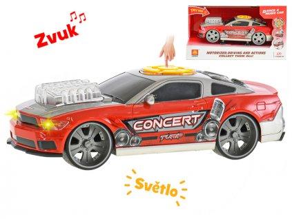 Auto sportovní 25cm ovladatelné na baterie se světlem a zvukem v krabičce