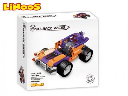 LiNooS stavebnice 223ks auto sportovní na zpětný chod v krabičce
