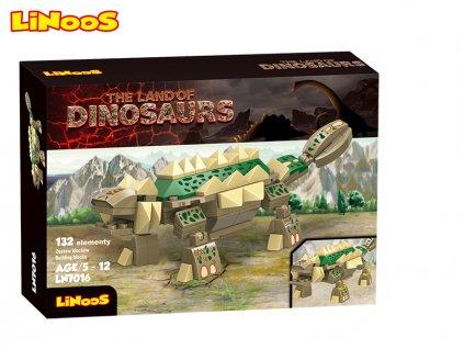 LiNooS stavebnice 132ks dinosaurus Struthiosaurus v krabičce