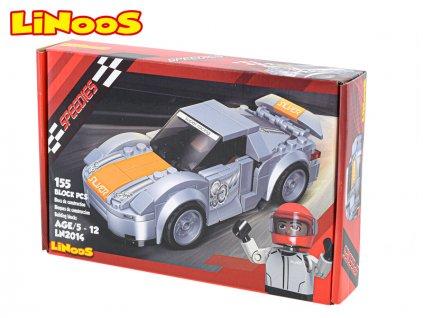 LiNooS stavebnice 155ks auto sportovní na volný chod v krabičce