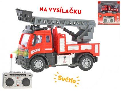 R/C auto hasičské se žebříkem 13cm 1:64 plná funkce na baterie se světlem 27MHz v krabičce
