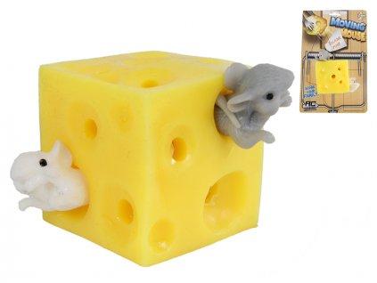 Sýr strečový 5cm+ 2myšky na kartě