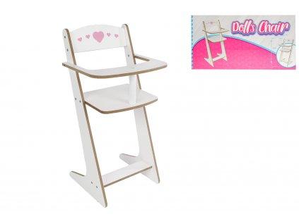 Židlička pro panenky dřevěná 53cm v krabičce