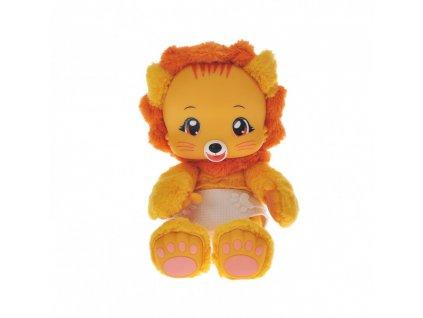 582 Zoopy Babies lvicek plysovy 24cm tlapky svitici ve tme na baterie se zvukem 12 M