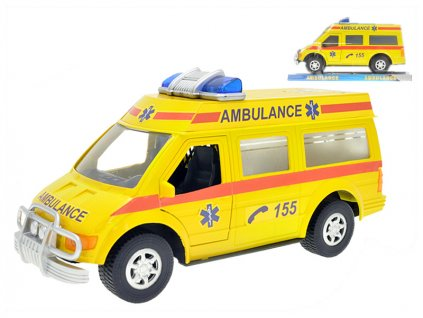 auto ambulance 27cm na setrvacnik v krabicce