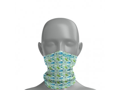 Dětský antivirový nanošátek v limitované edici CORONASAURUS