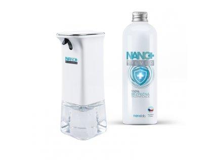 Bezdotykový dávkovač NANO+ včetně dezinfekce 500ml