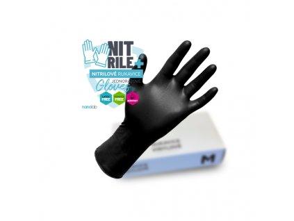 Nitrilovéjednorázové rukavice 100ks vel.XL