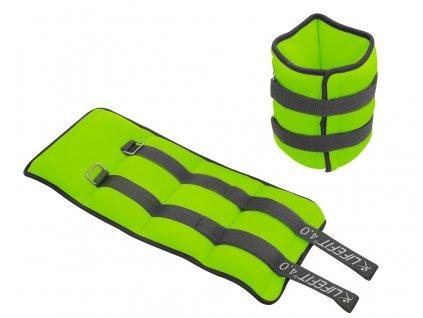 Neoprenová zátěž LIFEFIT kotník/zápěstí S2 2x4,0kg, sv. zelená
